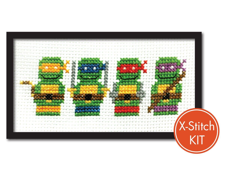 Teenage Mutant Ninja Turtles Modern Cross Stitch Kit.. $16.00, via ...