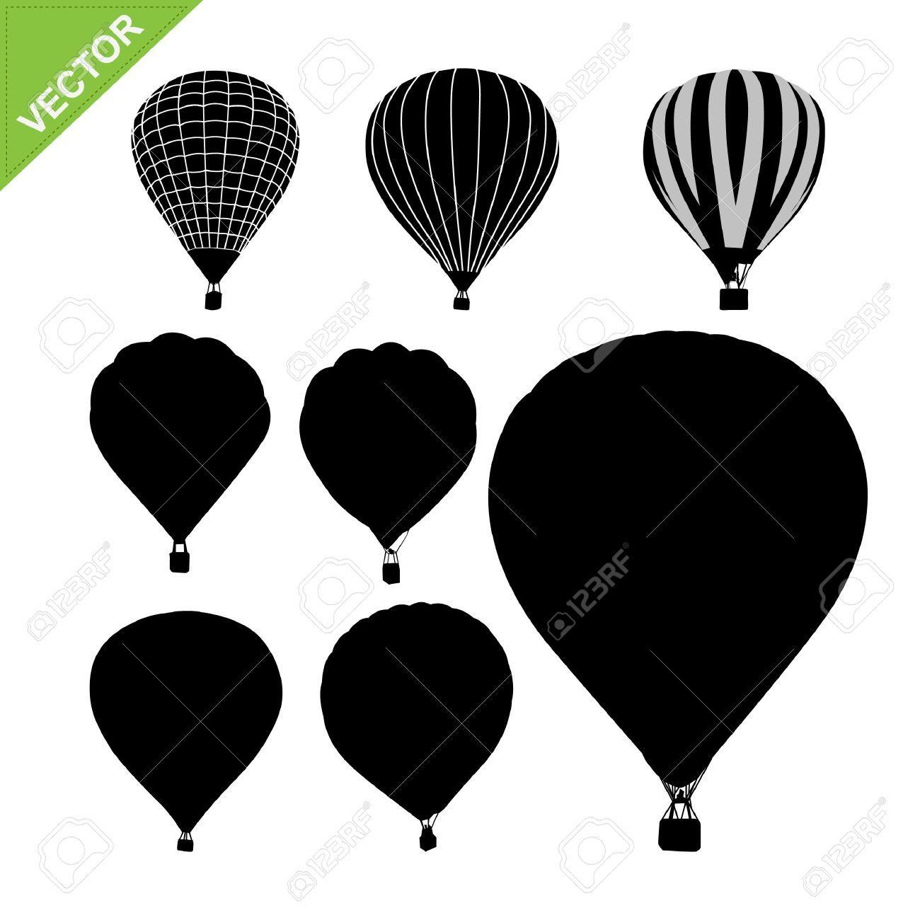 Hot Air Balloon Silhouettes Vector Affiliate Air