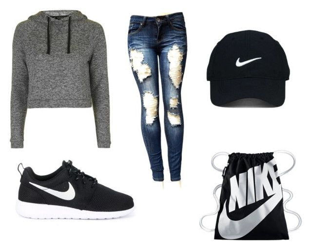 """Untitled #48"" by pmckindra on Polyvore featuring Topshop, NIKE and Nike Golf"