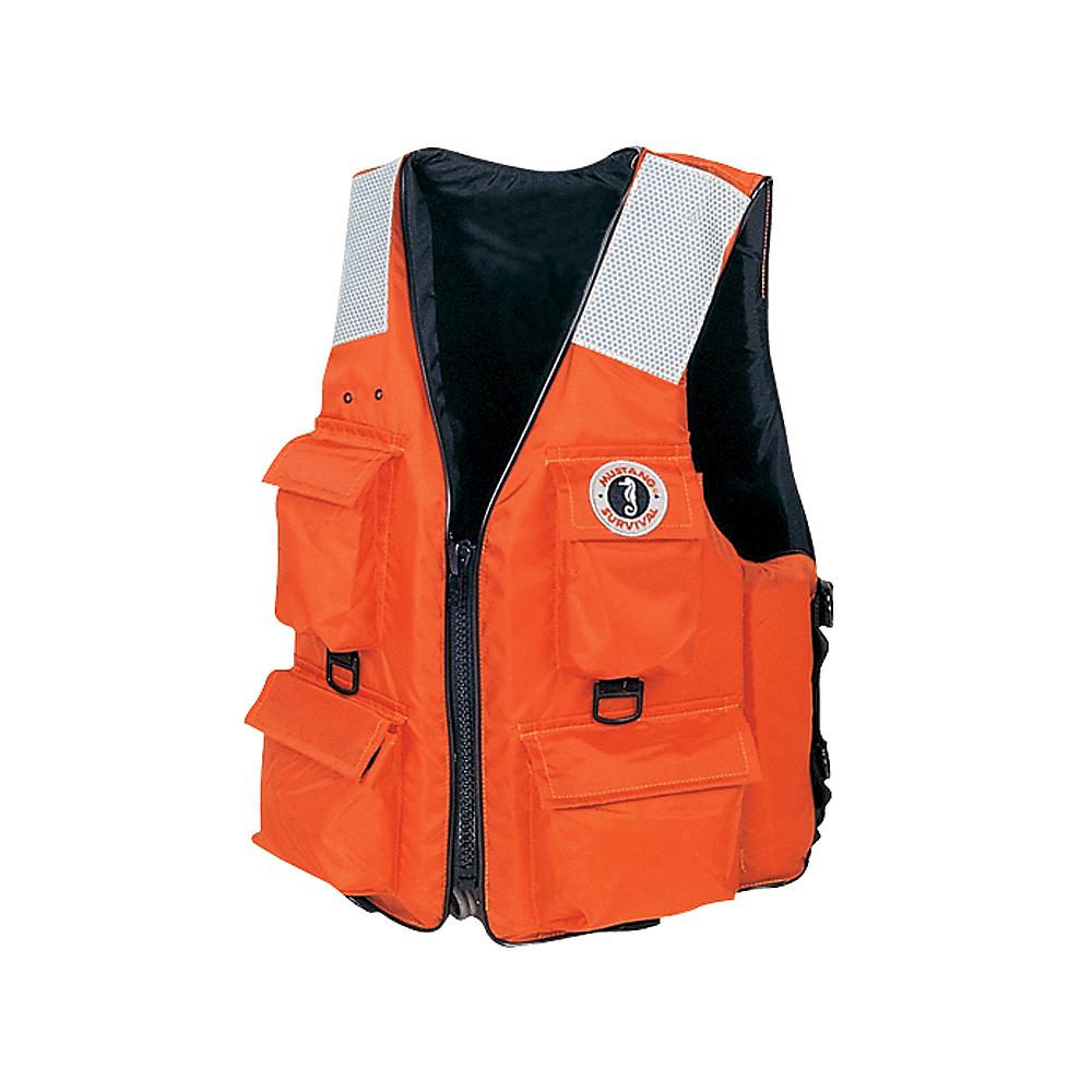 Mustang Survival Life Vest Large 4 Pocket Model Mv3128t2 L Or Pocket Vest Vest Life Vest