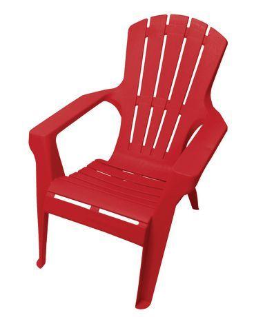 Gracious Living Resin Adirondack Chair Red Adirondack Chair