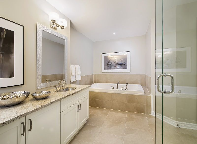 This Is The Ensuite Bathroom In Our Royal Edward Model Home In Unique Bathroom Stall Model