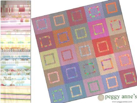 Quilt Kit : Berkeley Square - Pastel Chic