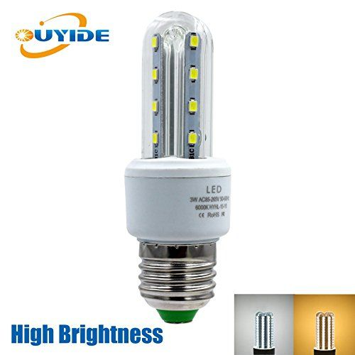 Ouyide Led Corn Light Bulbs 25 Watt Equivalent 330lm 3w A19 Led Bulbs Warm White 3000k E26 E27 Socket Bright White Led Led Bulb White Led Lights