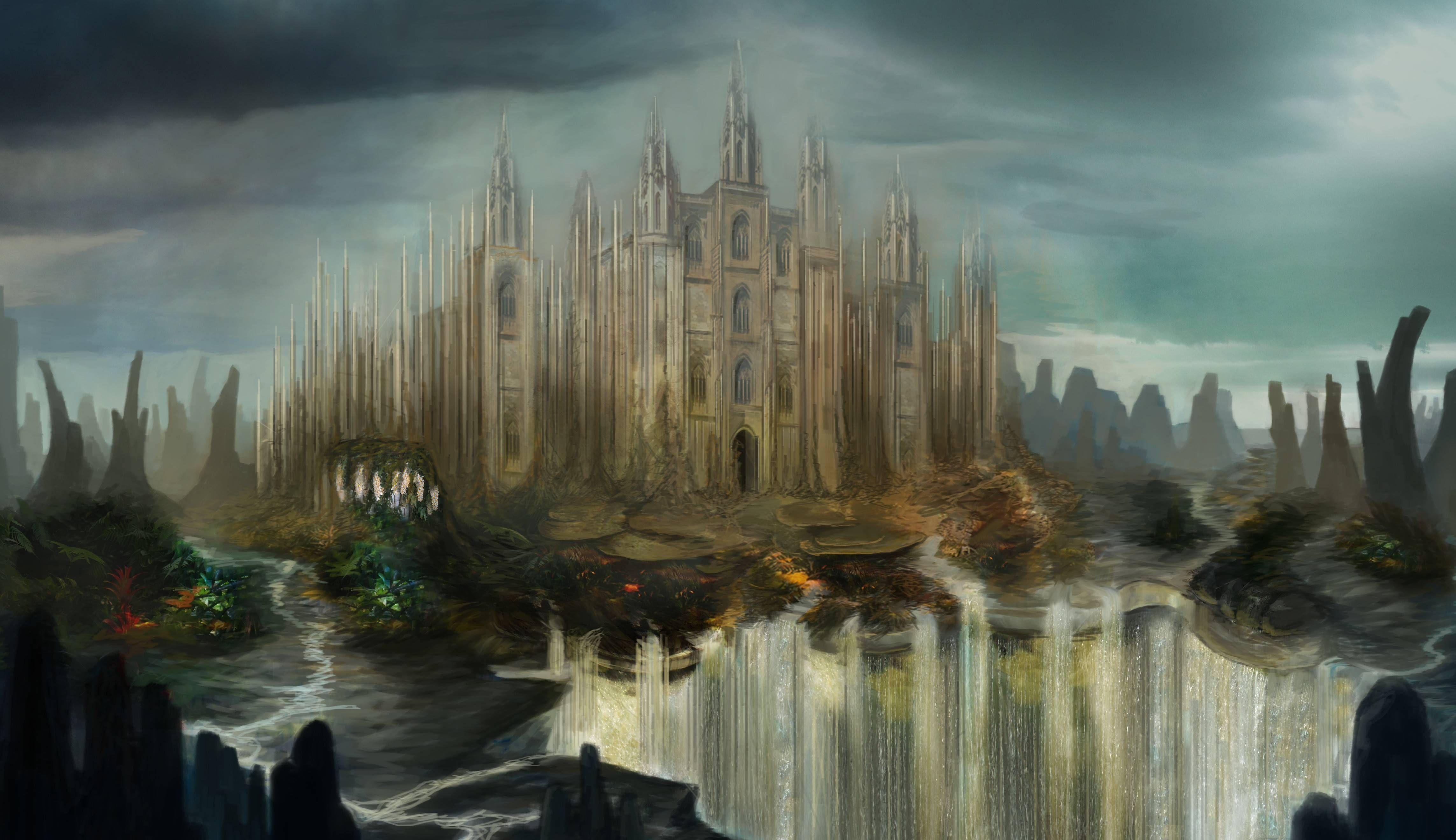 Fantasy Castle Artwork Ders Wallpaper Everything