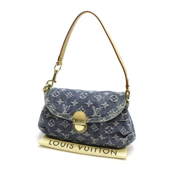 Louis Vuitton Mini Pleaty Monogram Denim Handle bags Blue Denim M95050