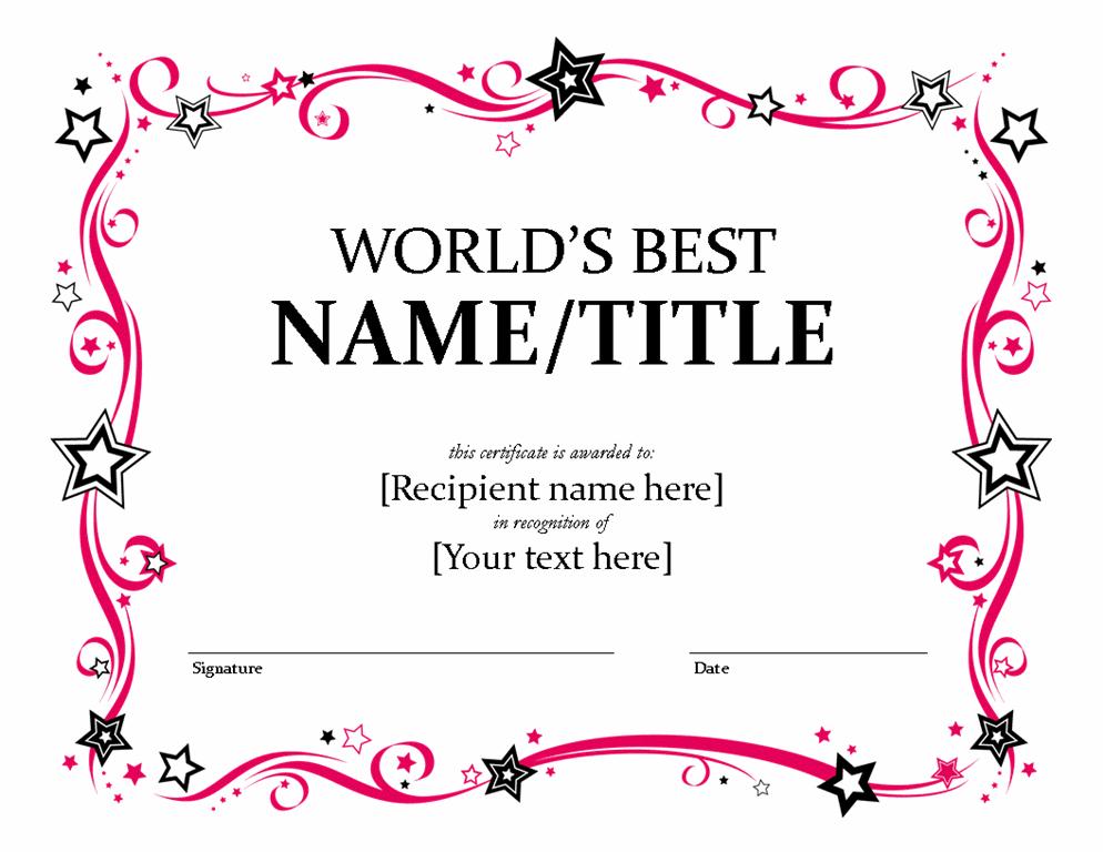 Global\'s Better Certificate | Makaton | Pinterest