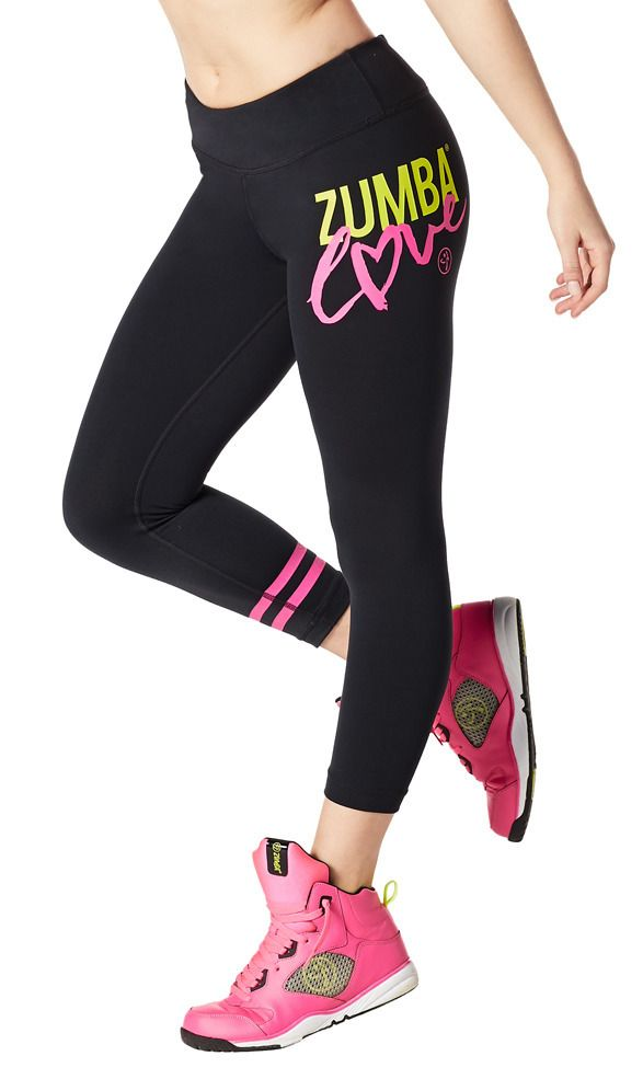 eafe3d4833548 Zumba Love Perfect Crop Leggings | Zumba Wear (M) I like both colors, but I  don't have any navy pants