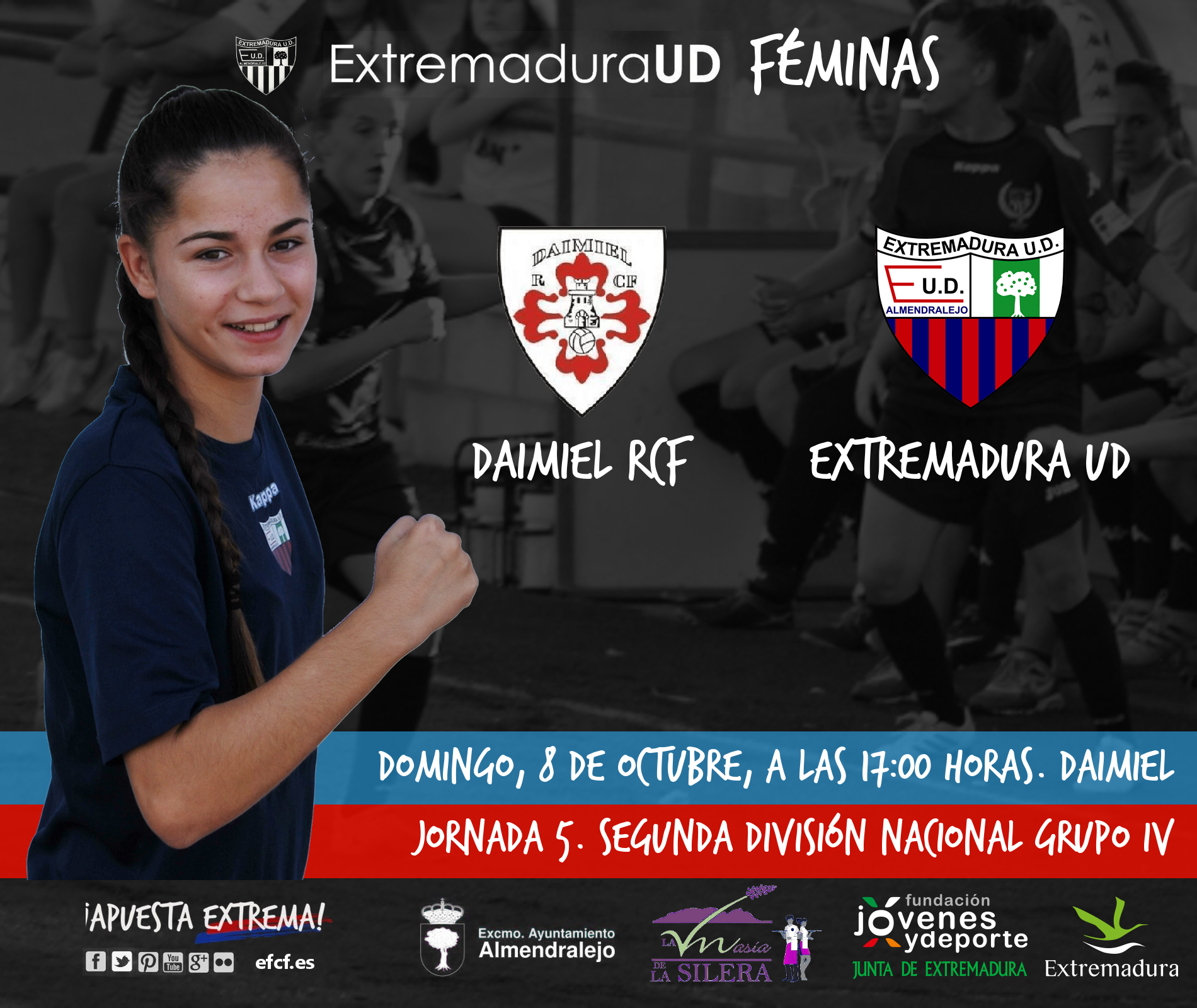 SEGUNDA DIVISIÓN Grupo IV | Jornada 5 Daimiel RCF v Extremadura UD ...