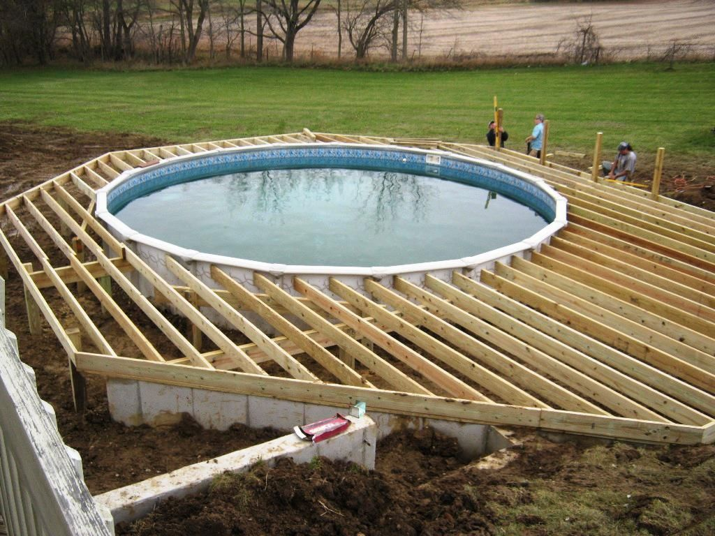 Fascinating Above Ground Pool Decks Designs