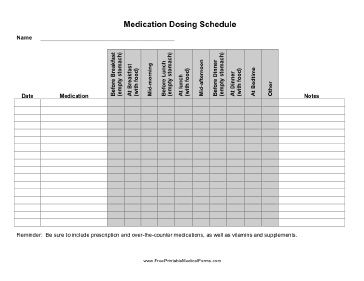 this medication dosing schedule helps patients track their