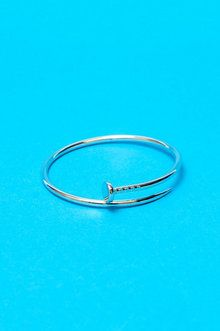 Nailed It Bangle in Silver
