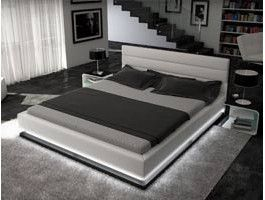 Lit Design à Led Giovani Blanc Bedroom Ideas Decorations For My - Lit design a led
