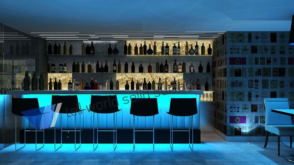 Website Fashion Design Hotel Bar Counter Free Standing Modern Bar .