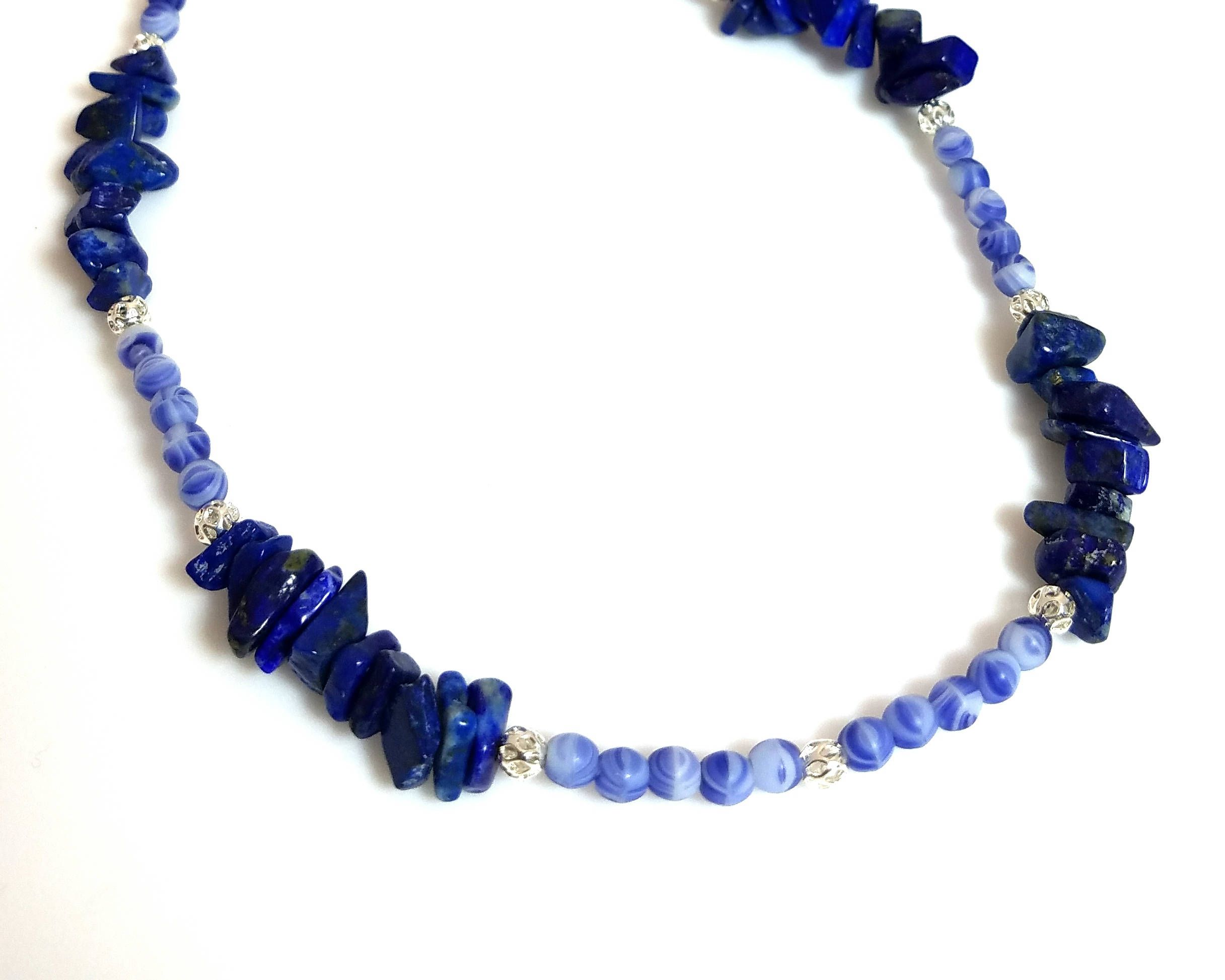 products green bead fair j trade strand necklace handmade blue lucias imports and