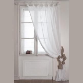 mathilde m rideau blanc voile de coton 140 x 260 cm mathilde m paris pinterest rideaux. Black Bedroom Furniture Sets. Home Design Ideas