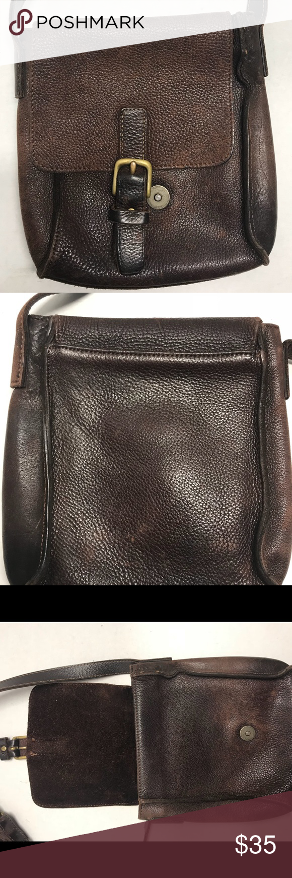 a1faf94a52 Gap women's mini brown crossbody Button clasp are both male and will not  close all the
