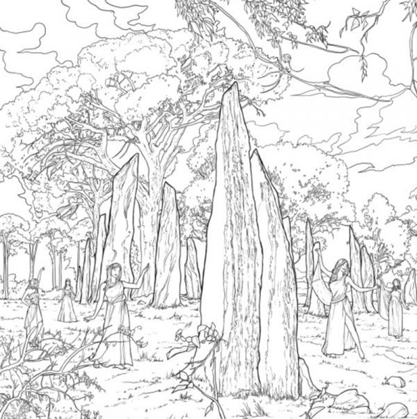 Page 13 Official Outlanders Coloring Book