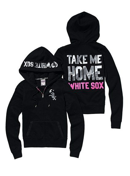 timeless design 8f6a1 1fdc1 Chicago White Sox Bling Zip Hoodie - Victoria's Secret Pink ...