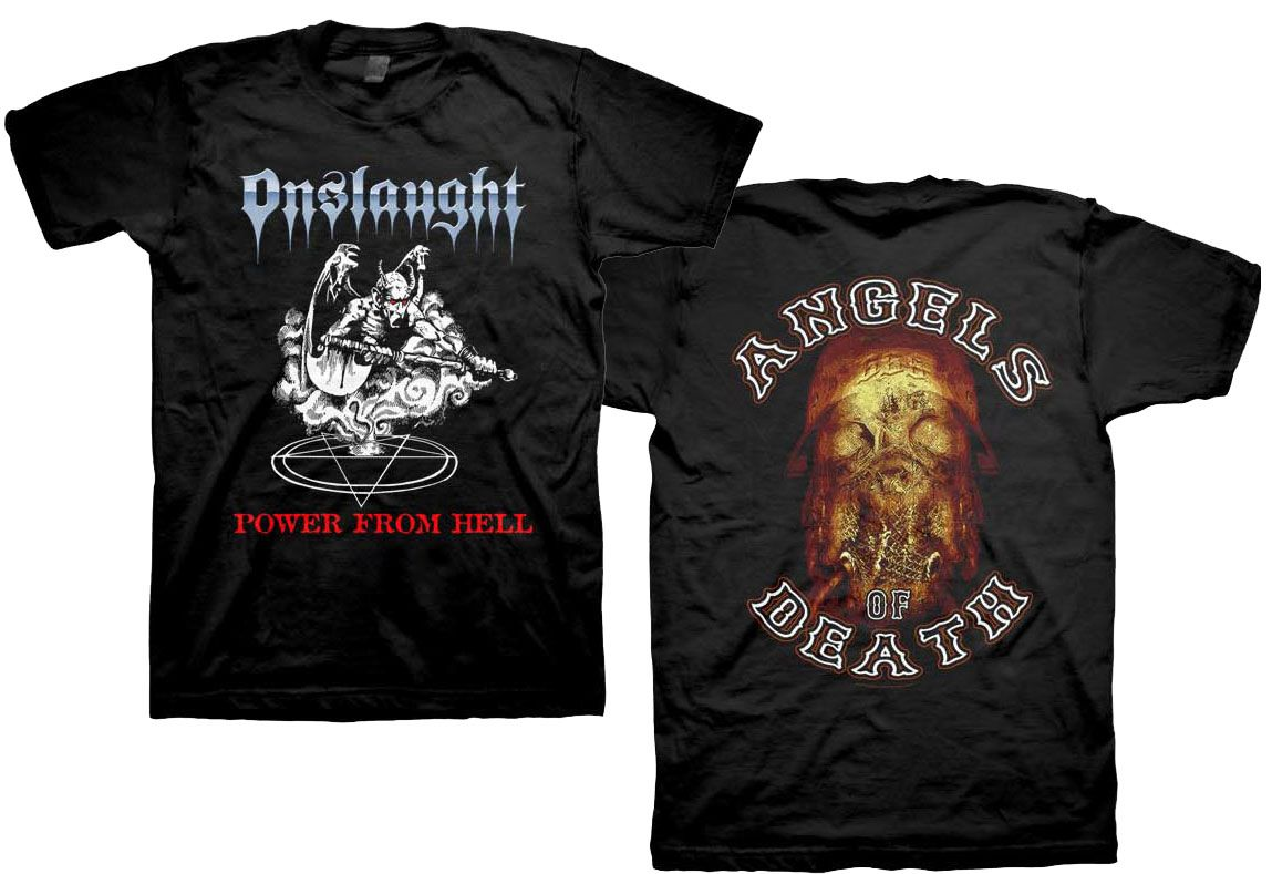 Onslaught - Power From Hell T-Shirt for $19.95  http://www.jsrdirect.com/merch/onslaught/onslaught-power-from-hell-tshirt  #onslaught #metal #tshirts #tshirt #thrash