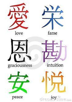 Japanese Kanji Significado De Letras Chinas Palabras Chinas