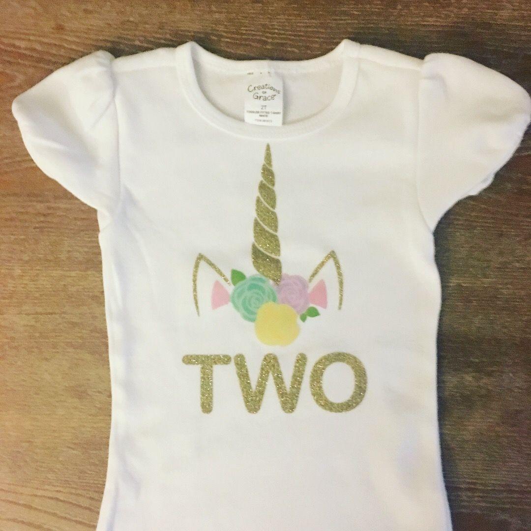 Unicorn Birthday Shirt Birthday party shirt, 2nd