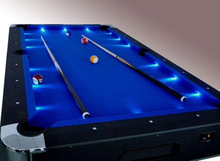 Exceptional #8FT POOL SNOOKER PUB BILLIARDS TABLE LED SUPERBRITE PINGPONG HOCKEY