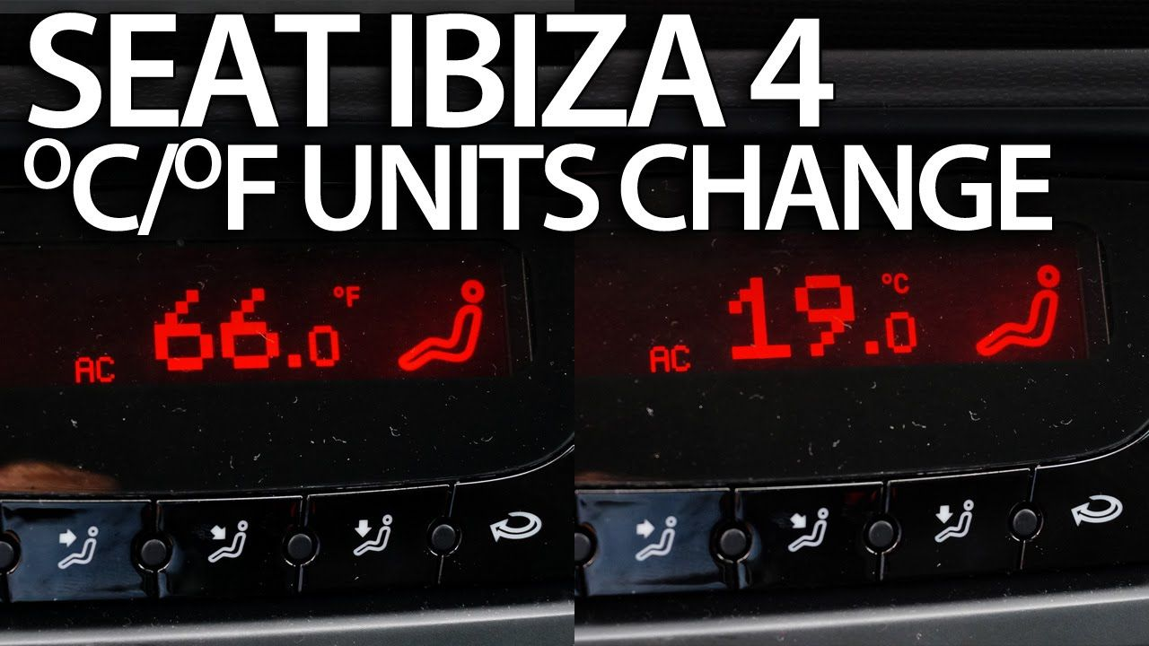 How to change temperature units Seat MK4