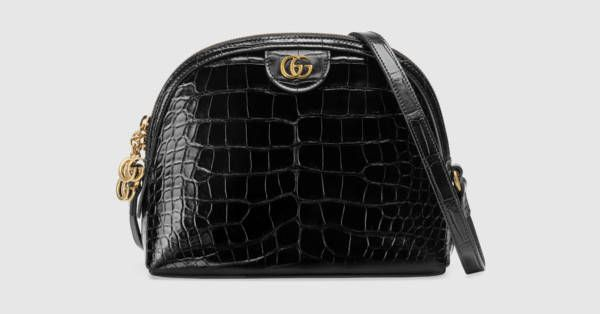 c3bbb62217e Gucci Ophidia crocodile small shoulder bag
