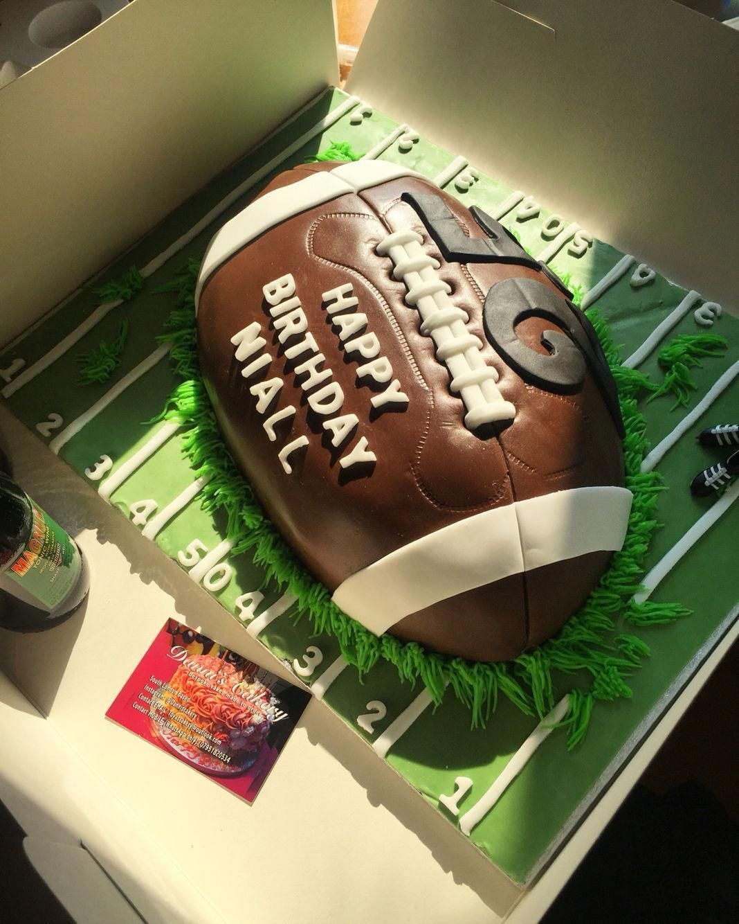 American Football Cake, Decorated and Created by myself. Will create a recipe an...,  #American #AmericanFootballgeschenk #Cake #create #Created #Decorated #football #recipe #footballcake