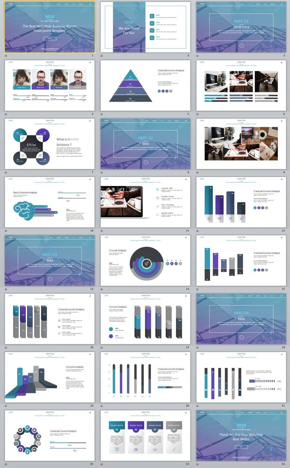 24+ best blue annual design powerpoint templates | powerpoint, Modern powerpoint