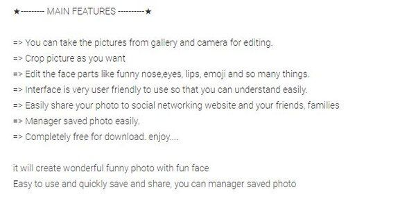 Funny Face android app | # Android App Templates Designs | Pinterest ...