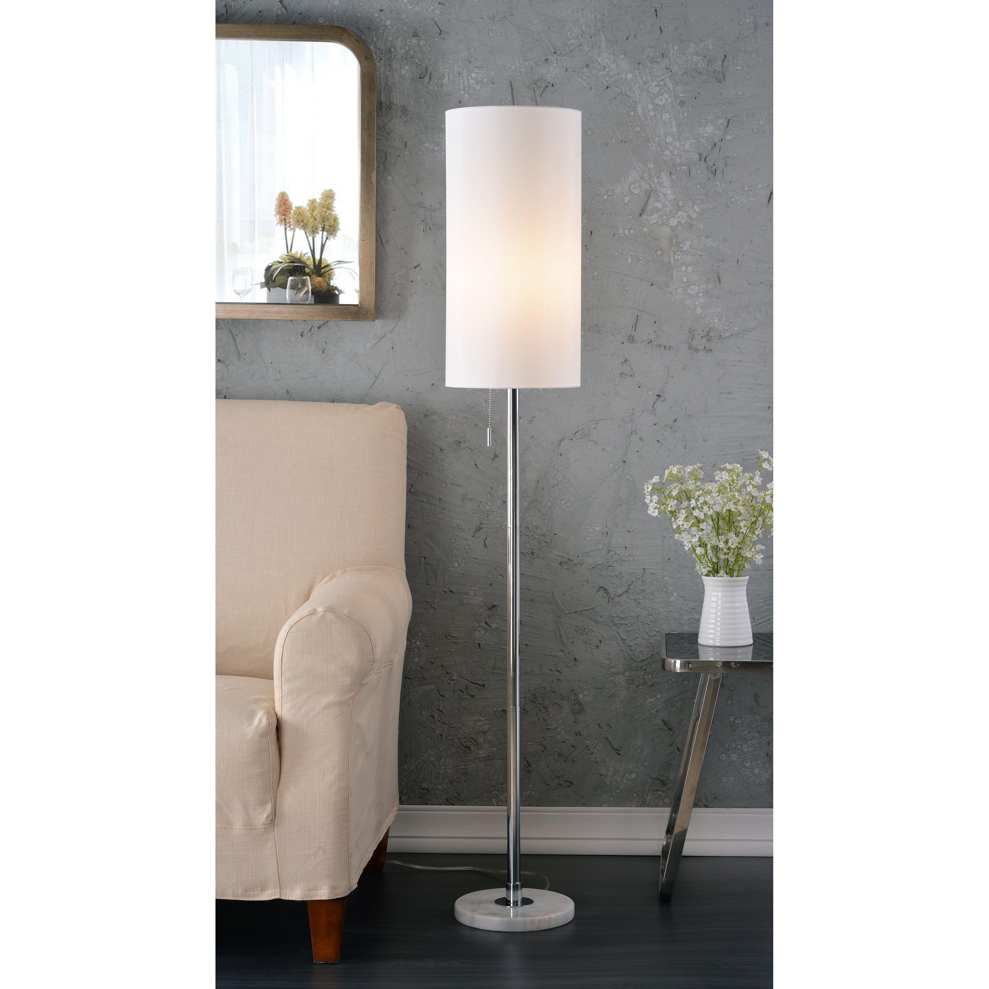 Aria 59 5 Chrome Floor Lamp Contemporary Floor Lamps Floor Lamp Cool Floor Lamps