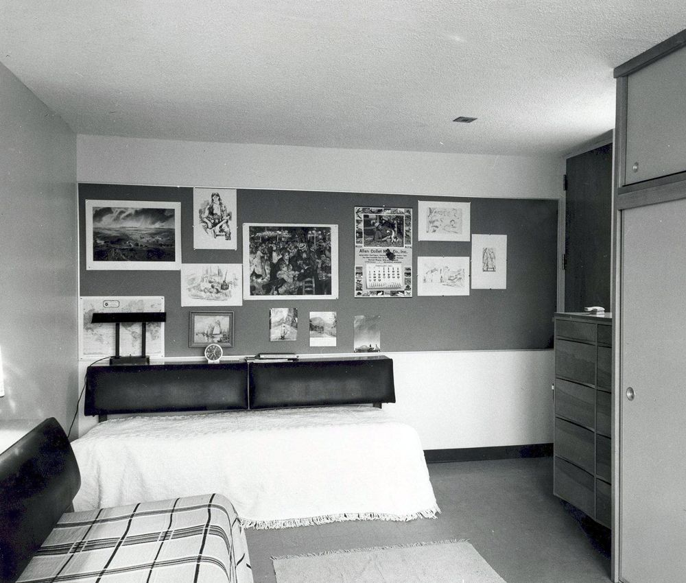 Dorm Room At The End Of Hall In Mitchell Alma College Michigan These Rooms Looked Exactly Same When I Lived There