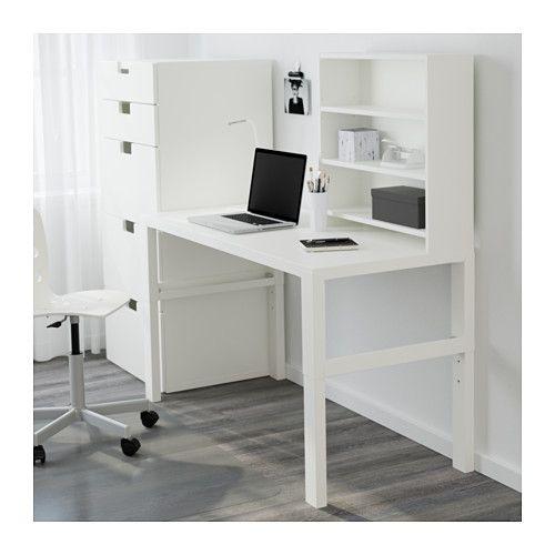 IKEA PAHL White Desk with addon unit Desk shelves