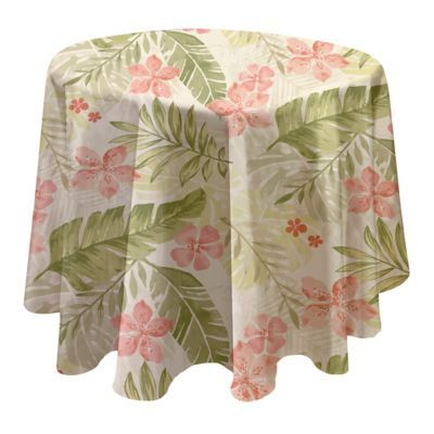 70 Inch Round Table Cloth.Kona Tropics 70 Round Stain Resistant Vinyl Tablecloth Multi In