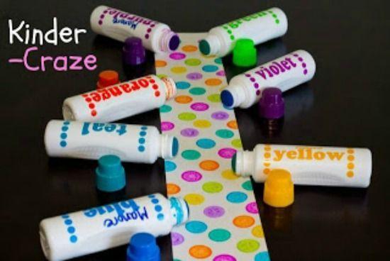 Classroom Polka Dot Decor {DIY} Create your own polka dot decorations with BINGO daubers-- for @Peggy Campbell Simonson