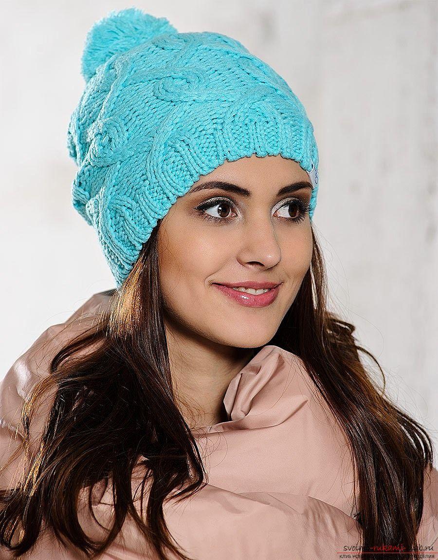 Вязать шапку зимнюю спицами женскую