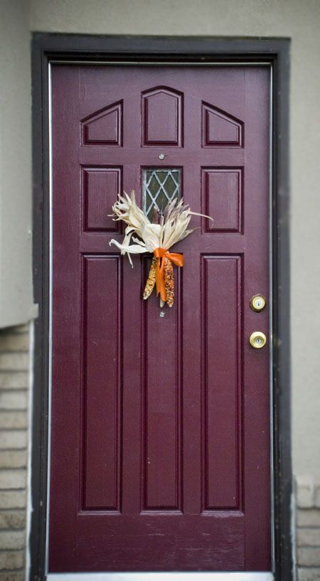 front door colors | Design Elements * Front Doors & Feather River Door Entry Door painted in dark red. | Colorful ... Pezcame.Com