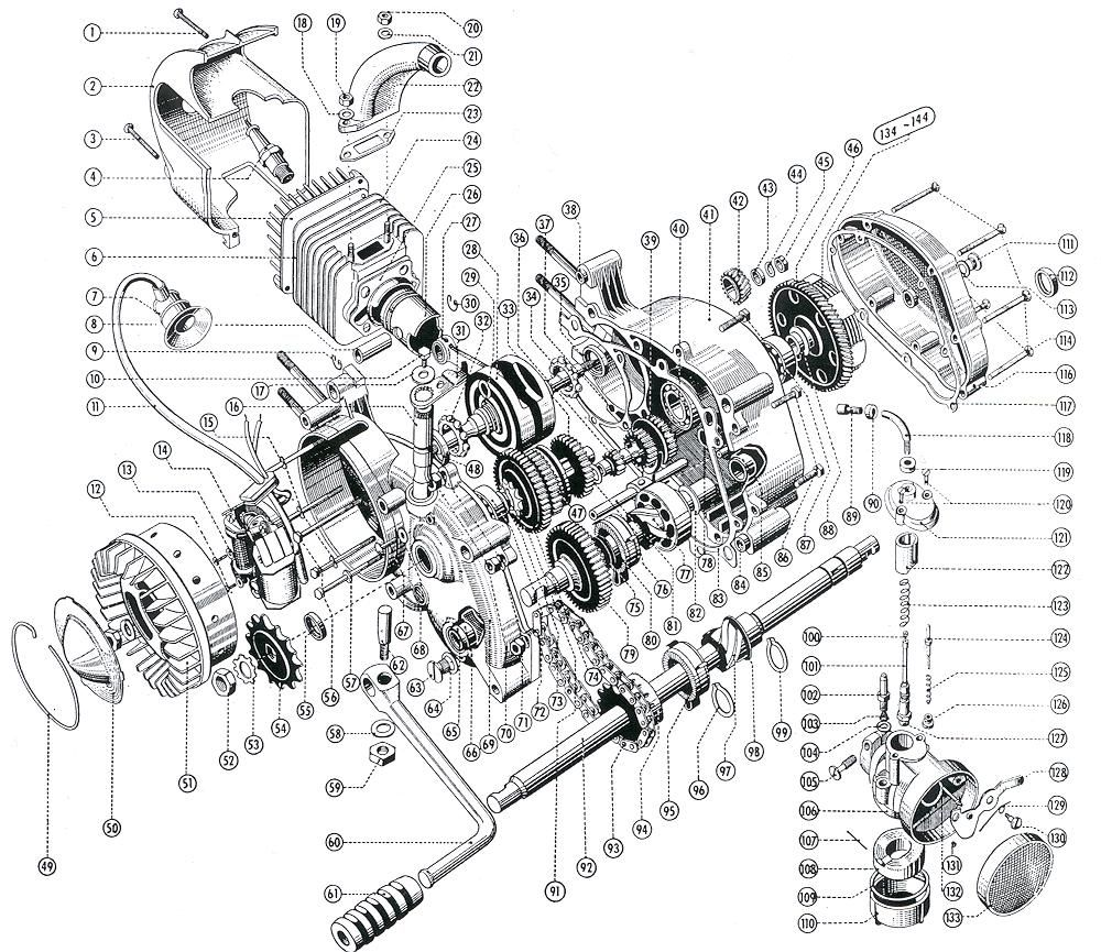 Pin on Motorcycle Engine Exploded View / Motores de moto