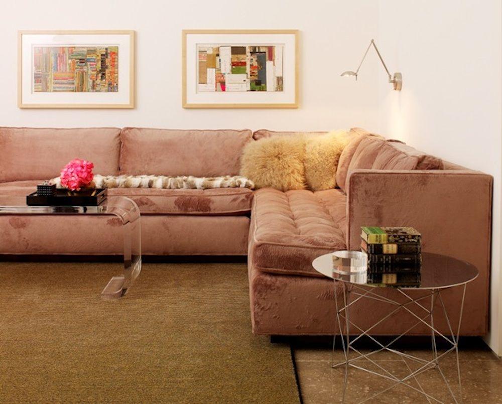 Custom sectional credit alice cottrell interior design rick rozas design