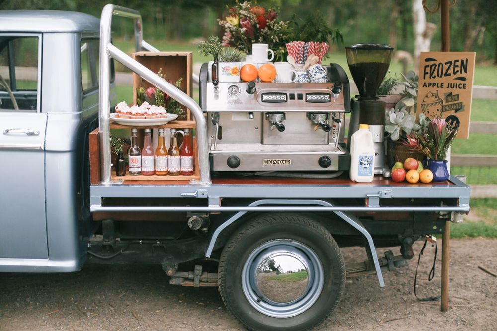 Vintage Ute Mobile Coffee Cart Melbourne