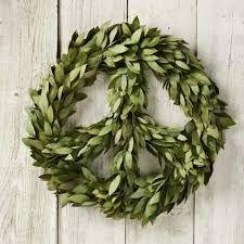 Peace sign wreath