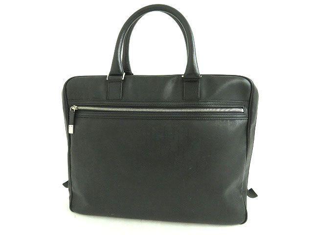 eBay  Sponsored Christian Dior Briefcase DIOR HOMME Black Leather Italy Mens  FS Excellent  1367 d1de17f3f35e5