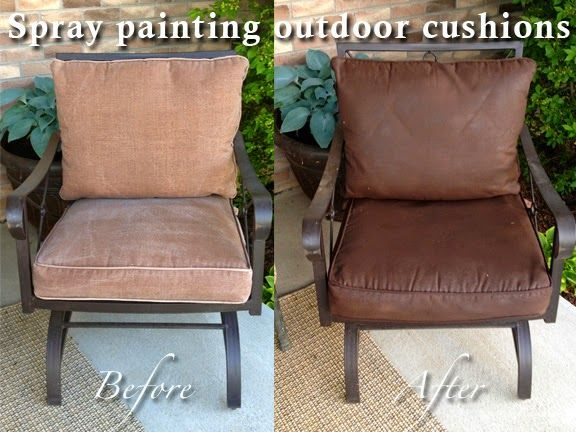 Diy Why Spend More Spray Painting Outdoor Cushions Outdoor