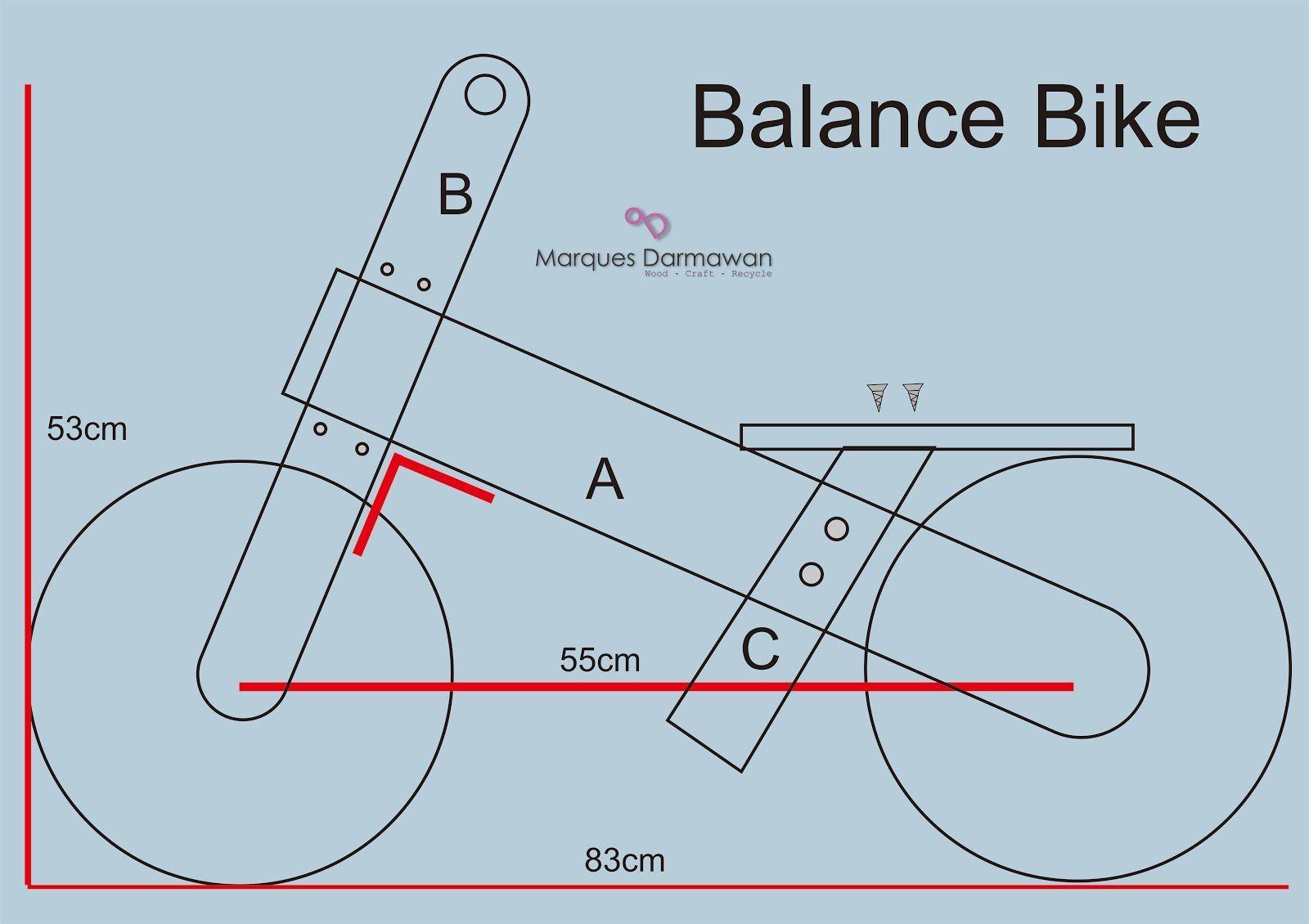 Image result for wooden bike plan   Wooden balance bike ...