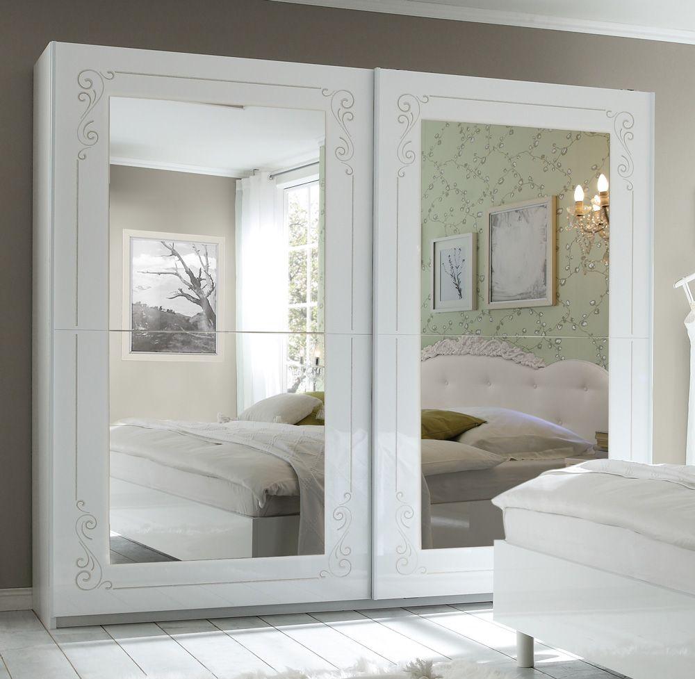 Ante Scorrevoli A Specchio.Armadio 2 Ante Scorrevoli Specchio Design Moderno Classico Romantico