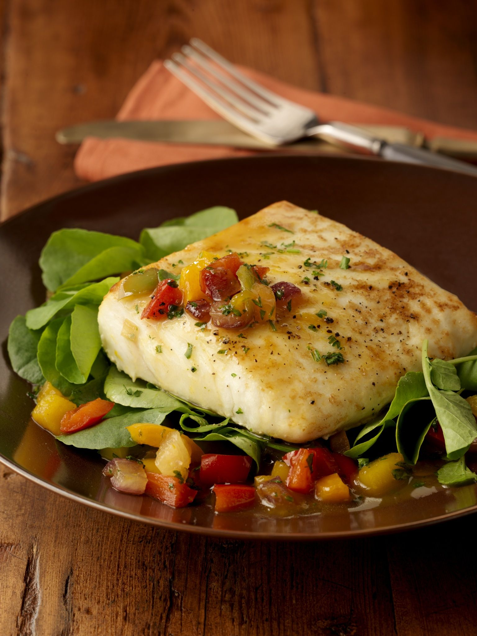 Baked Halibut Served With Green Salad By Gable Denims On 500px  ~ Cenas Ligeras Para Bajar De Peso
