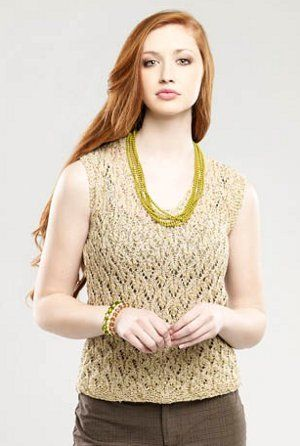 Hotness Top Lace Tank Knitting Patterns And Yarns