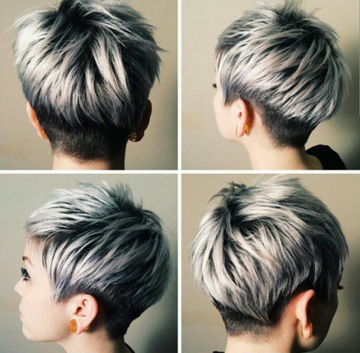 Couleur cheveux court gris bleu